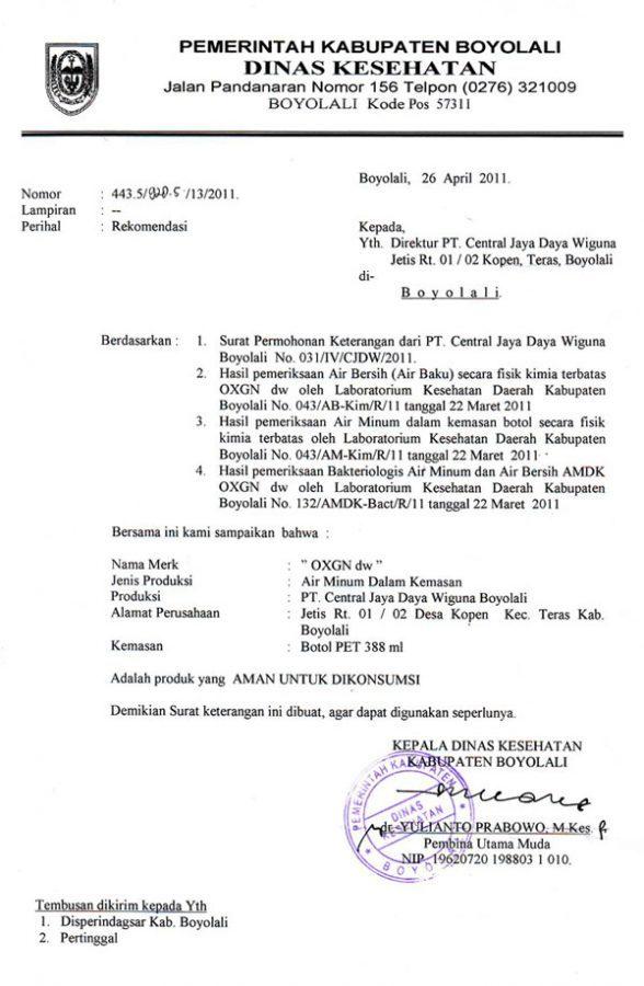 15 contoh surat dinas resmi pemerintahan kesehatan
