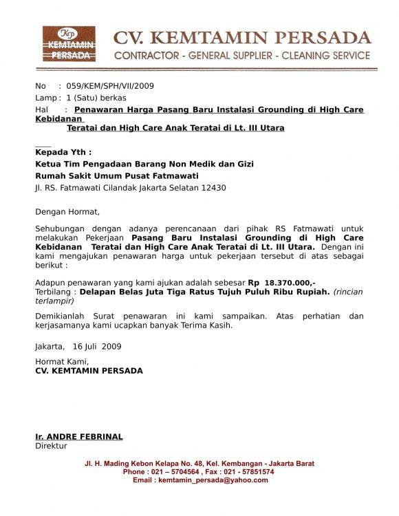 12 + Contoh Surat Penawaran Kerjasama  Barang  Jasa