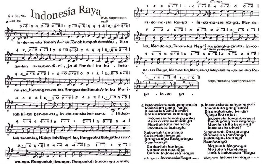 lirik lagu wajib nasional lengkap
