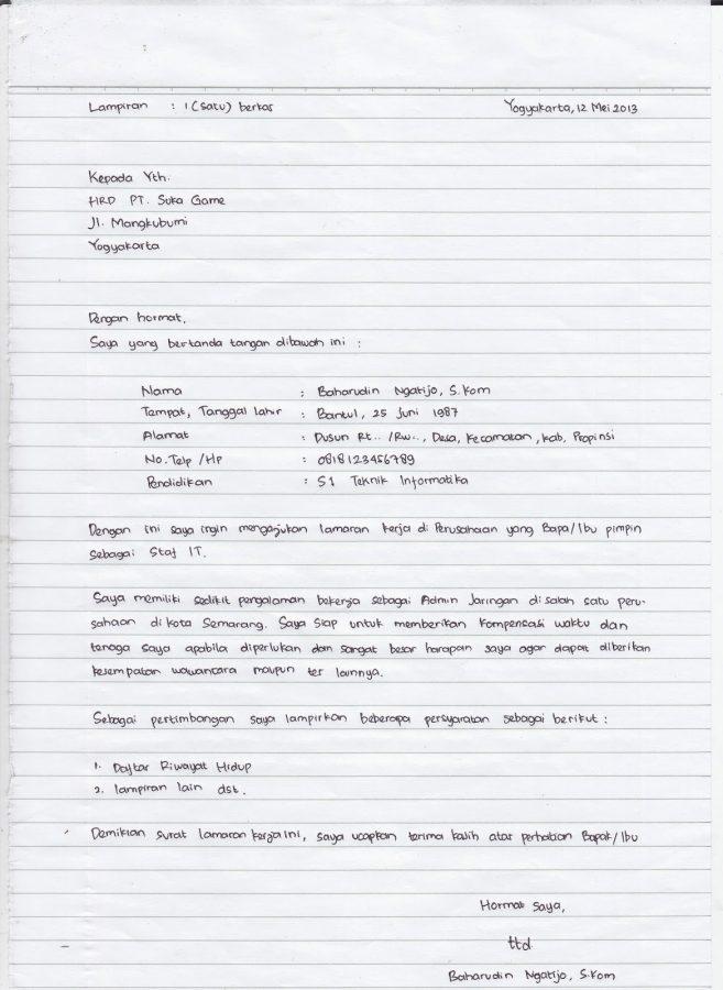50+ Contoh Surat Lamaran Kerja Dengan Penulisan yang Baik dan Benar [Terbaru]  Balubu