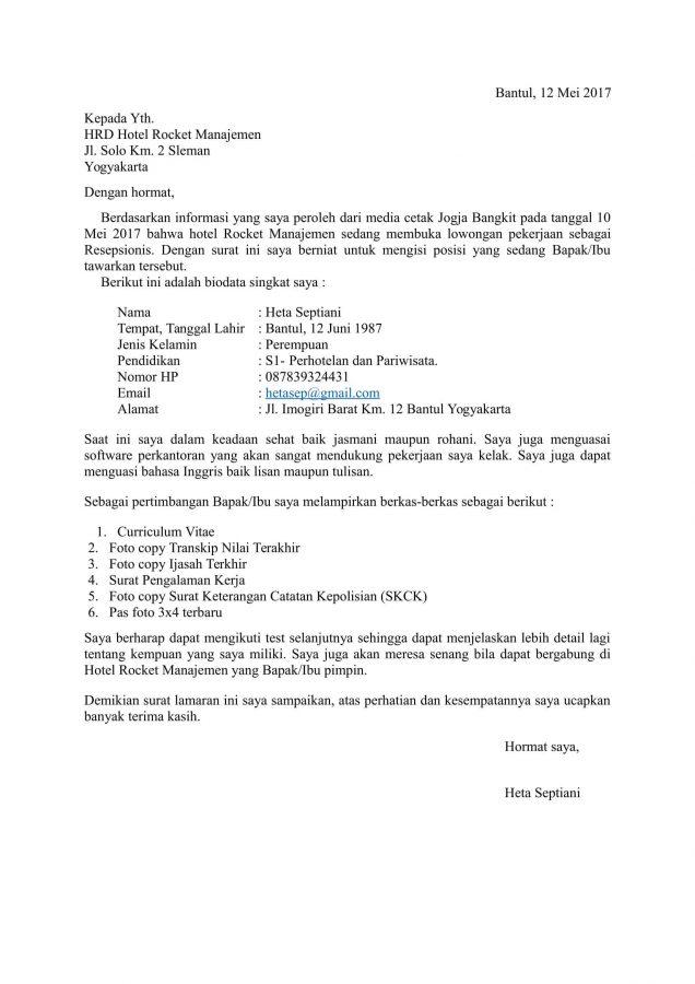 50 contoh surat lamaran kerja dengan penulisan yang baik