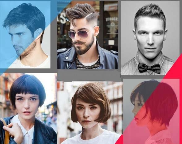 gaya potongan model rambut pria dan wanita